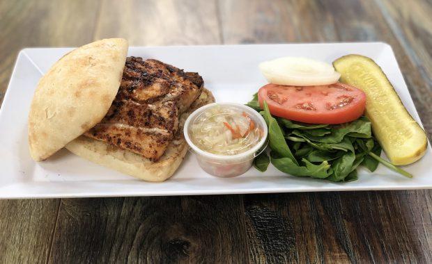 grilled wild salmon sandwich