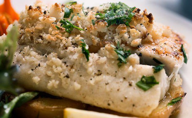 Macadamia-Encrusted Sea Bass